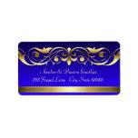 Grand Duchess Blue Gold Scroll Address Labels