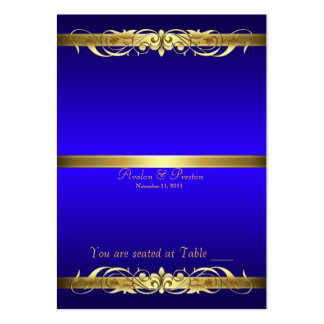 Grand Duchess Blue Gold Scroll Table Placecard Large Business Cards (Pack Of 100)
