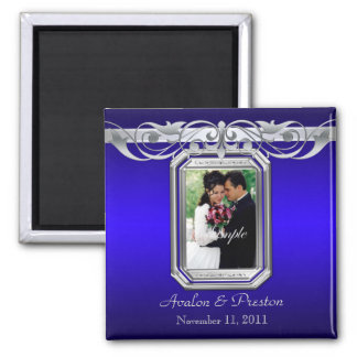 Grand Duchess Blue Photo Save The Date Magnet