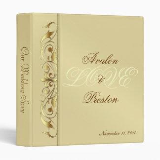 Grand Duchess Gold Metal Scroll Album Binder