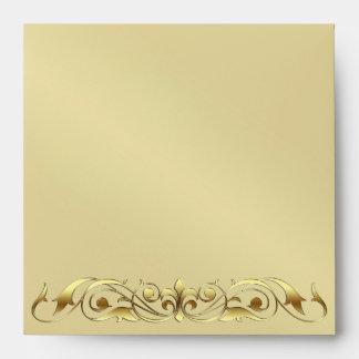 Grand Duchess Gold Metal Scroll  Envelope