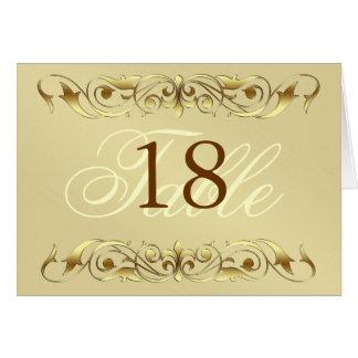 Grand Duchess Gold Metal Scroll Table Card