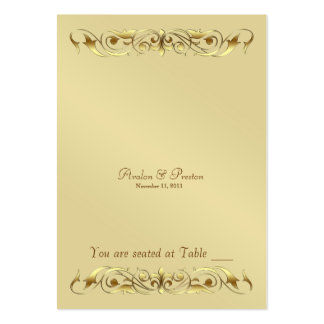 Grand Duchess Gold Metal Scroll Table Placecard Large Business Card