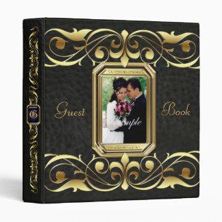 Grand Duchess Gold Scroll Black Guest Book Binder