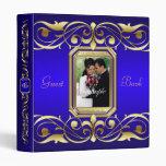 Grand Duchess Gold Scroll Blue Guest Book Binder