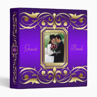Grand Duchess Gold Scroll Purple Guest Book Binder