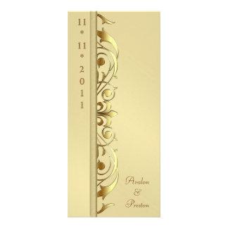Grand Duchess Gold Scroll Wedding Program