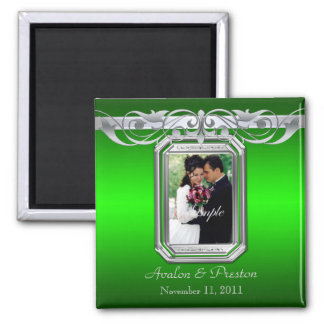 Grand Duchess Green Photo Save The Date Magnet