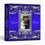 Grand Duchess Jewel Scroll Blue Guest Book Binder