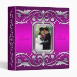 Grand Duchess Jewel Scroll Pink Guest Book Binder