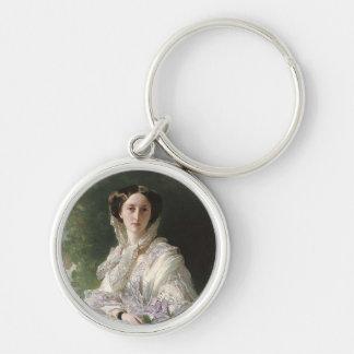 Grand Duchess Olga Silver-Colored Round Keychain