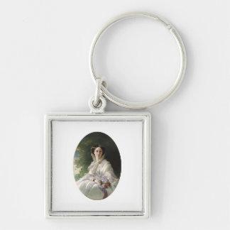 Grand Duchess Olga Silver-Colored Square Keychain
