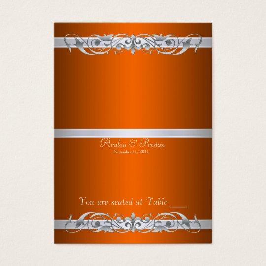 Grand Duchess Orange Folding Table Placecard Business Card