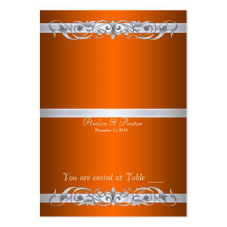 Grand Duchess Orange Folding Table Placecard Large Business Card