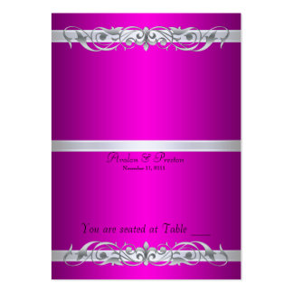 Grand Duchess Pink Scroll Folding Table Placecard Large Business Cards (Pack Of 100)