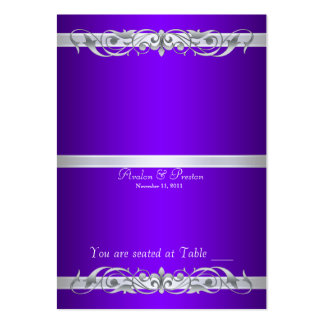 Grand Duchess Purple Folding Table Placecard Large Business Card