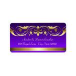 Grand Duchess Purple Gold Scroll Address Labels