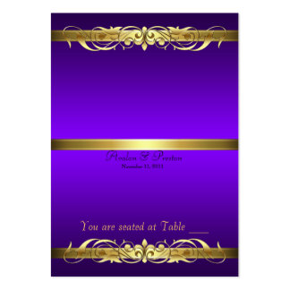 Grand Duchess Purple Gold Scroll Table Placecard Large Business Card