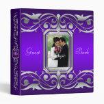 Grand Duchess Purple Jewel Guest Book Binder