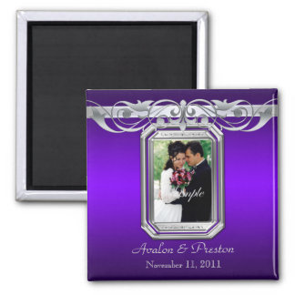 Grand Duchess Purple Photo Save The Date Magnet
