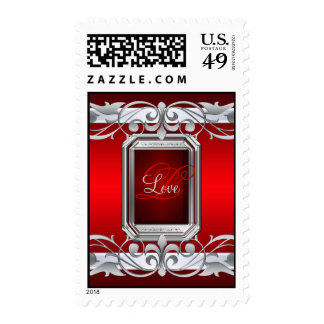 Grand Duchess Silver Love Red Postage Stamp