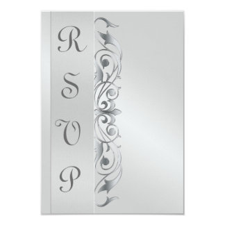 Grand Duchess Silver Metal RSVP Response Invite