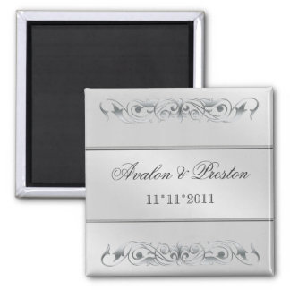 Grand Duchess Silver Metal Save The Date Magnet