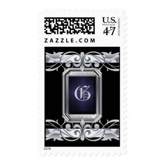 Grand Duchess Silver Monogram Black Postage