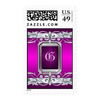 Grand Duchess Silver Monogram Pink Postage
