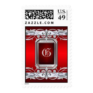 Grand Duchess Silver Monogram Red Postage