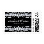 Grand Duchess Silver Save The Date Black Postage