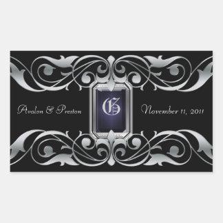 Grand Duchess Silver Save The Date Black Sticker