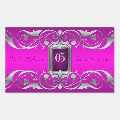 Grand Duchess Silver Save The Date Pink Sticker