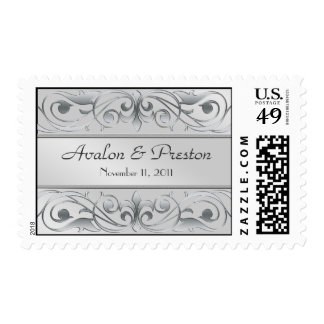 Grand Duchess Silver Save The Date  Postage