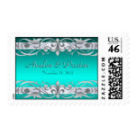 Grand Duchess Silver Save The Date Teal Postage