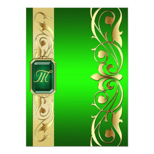 Grand Duke Green Jewel Gold & Green Invitation