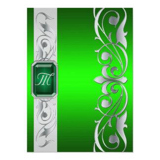 Grand Duke Green Jewel Silver & Green Invitation