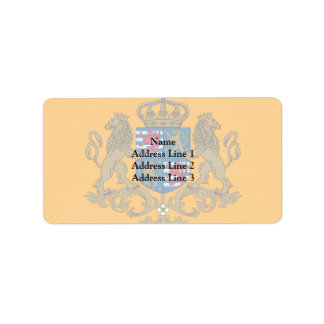 Grand Duke Of Luxembourg, Luxembourg flag Address Label