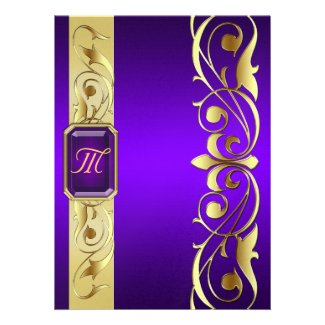 Grand Duke Purple Jewel Gold & Purple Invitation