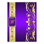 Grand Duke Purple Jewel Gold & Purple Invitation