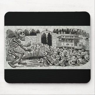Grand electric skull mouse pad