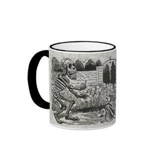 Grand electric skull ringer coffee mug
