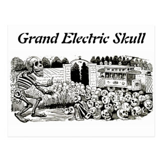 Grand Electric Skull postcard