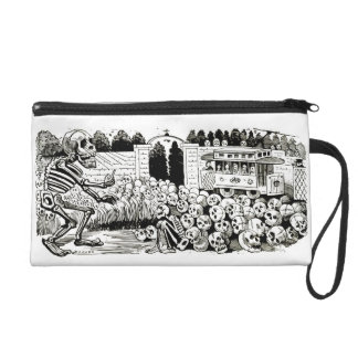 Grand Electric Skull wristlet purse