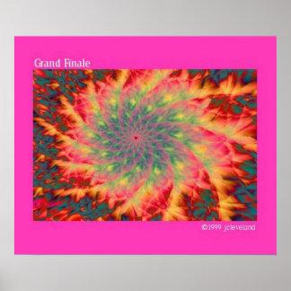 Grand Finale Fireworks Fractal Art Poster