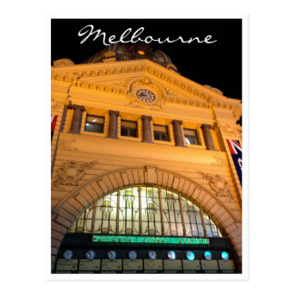 grand flinders station night postcard