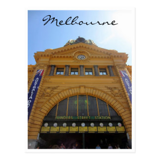 grand flinders street station postcard