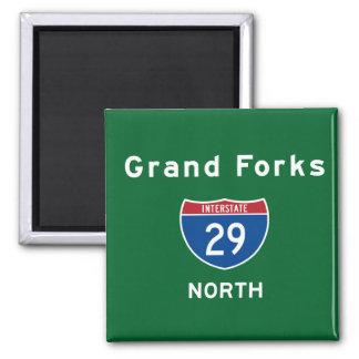 Grand Forks 29 2 Inch Square Magnet