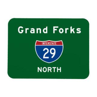Grand Forks 29 Rectangular Photo Magnet