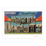 Grand Forks, Dakota del Norte - letra grande Postal